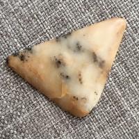 Агат моховый, кабошон 39*25*3 мм