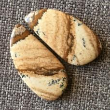 Яшма песчаная , пара кабошонов 28*14*5 мм